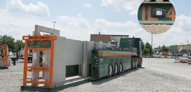 Digitalisierung von Ladungsträgern für Beton-Fertigelemente