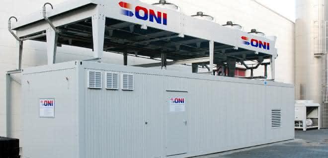 Typische Kühlanlage der kunststoffverarbeitenden Industrie