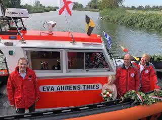 Neues Seenotrettungsboot der DGzRS in Ueckermünde getauft
