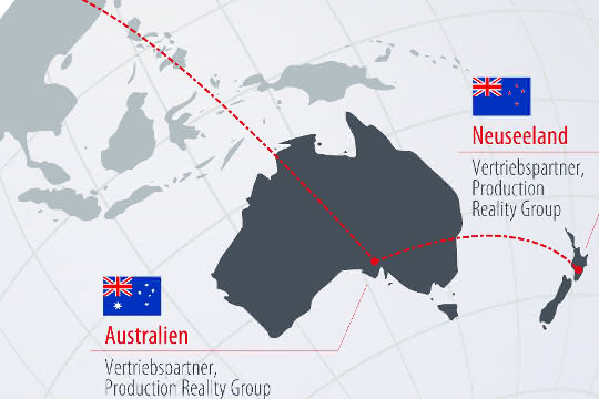 Neuer Vertriebspartner: Production Reality Group exklusiver Vertriebspartner von Gebhardt in Down Under