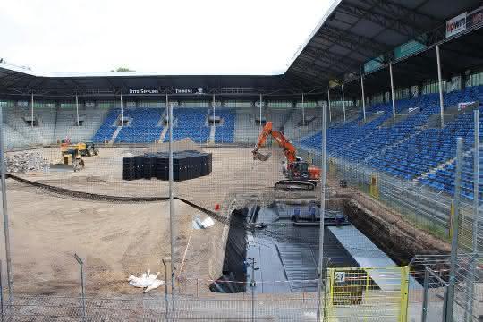 Regenwassernutzungsanlage im Carl-Benz-Stadion Mannheim