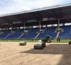 Rasenfläche saniert und die Regenwassernutzungsanlage installiert