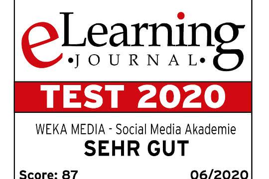 Auszeichnung für die Social Media Akademie von WEKA Media