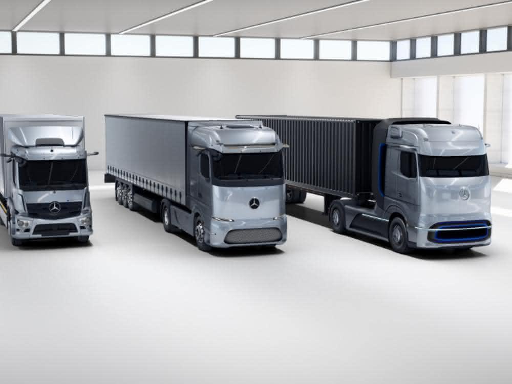 Weltpremiere des Brennstoffzellen-Lkw von Mercedes-Benz