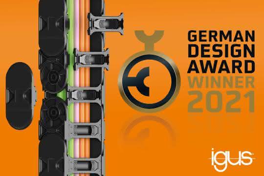 igus Energiekette E4Q gewinnt German Design Award