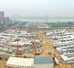 Notfallkrankenhäuser Huoshenshan und Leishenshan in Wuhan