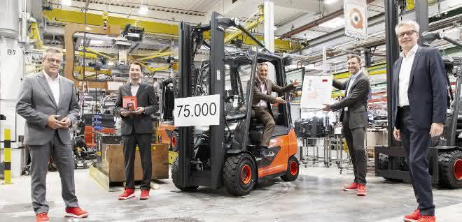 Suffel erhält 75.000stes Linde Fahrzeug