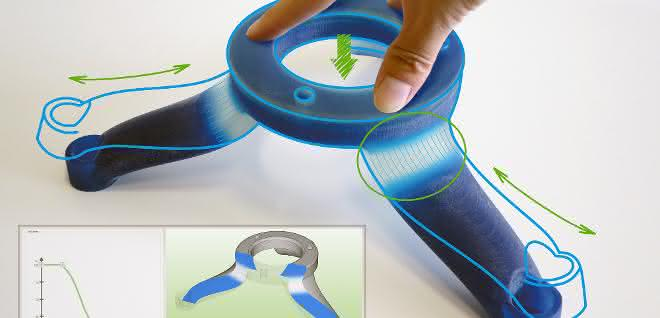 Standfuß aus Multimaterial-3D-Drucker
