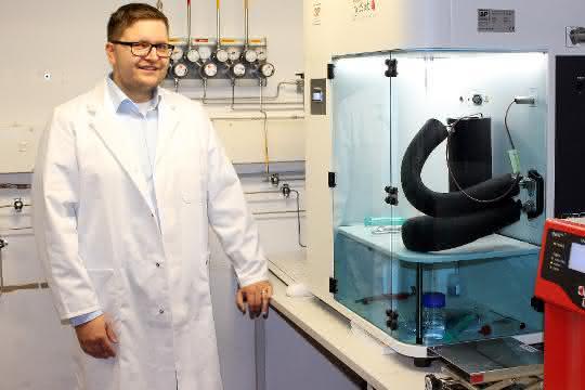 Martin Rieß im Labor