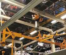 Elektrokettenzüge an Schwenkkranen
