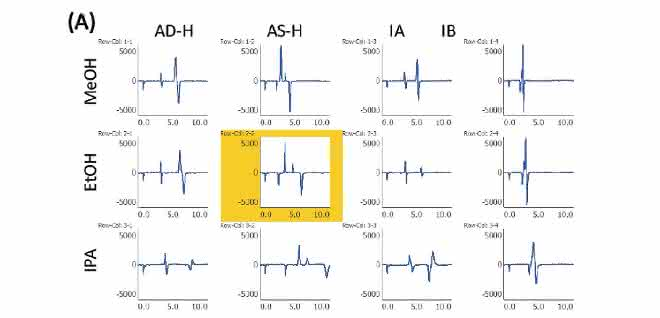 Bild 2: Chromatogramme des Bromuconazol-Standards (A)