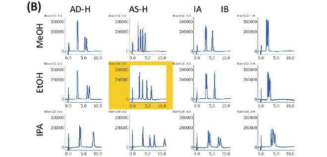 Bild 2: Chromatogramme des Bromuconazol-Standards (B)