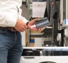 flexible Bedienblende der Waschmaschine mit gedruckter Elektronik auf der Rückseite