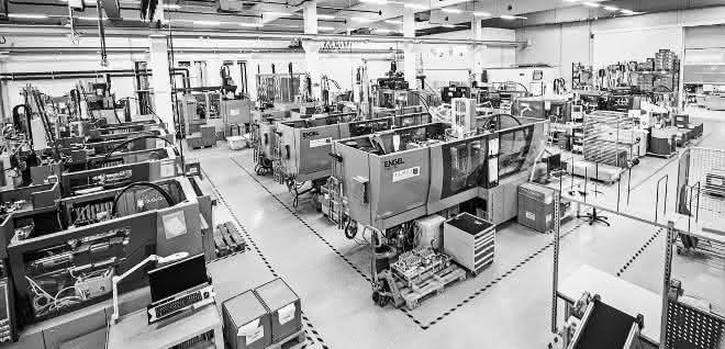 Die LSR-Teileproduktion in Oftering läuft wieder auf hohem Niveau.