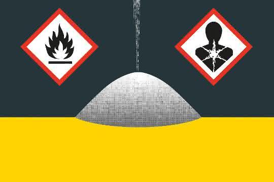 Warnschilder Gefahrstoffe