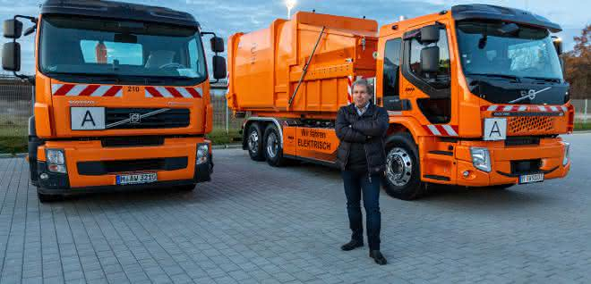 Erster Volvo FE Electric für München