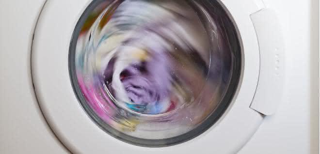 Laufende Waschmaschine