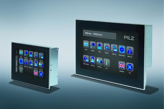 Kratz- und stoßfeste Glas-Touchscreens PMIviso v807 und v812 von Pilz