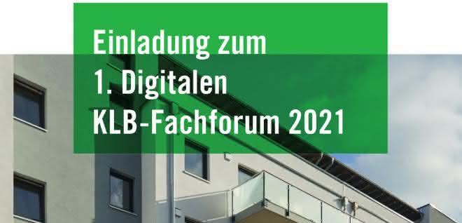 Web-Seminar: Digitales KLB-Fachforum für Planer