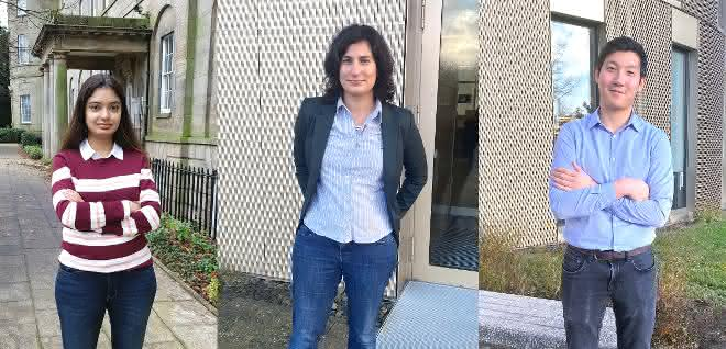 Dr. Neha Mishra, Dr. Joana Pimenta Bernardes und Dr. Florian Tran