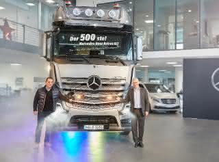 500ste Mercedes-Benz Actros SLT Schwerlastzugmaschine an TSB Transport-Service Beitinger übergeben