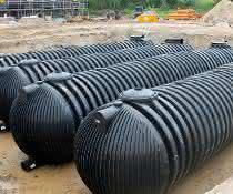 194.400 Liter Löschwasser: Tanks unter der Bodenplatte