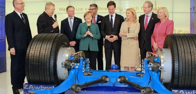 Uwe Ziehl mit Angela Merkel