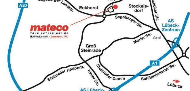 mateco Arbeitsbühnenvermietung jetzt auch in Lübeck