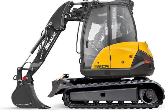 Neuer Ausleger für Mecalac Bagger