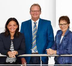 Arburg-Gesellschafter Juliane Hehl, Michael Hehl und Renate Keinath (v. l.)