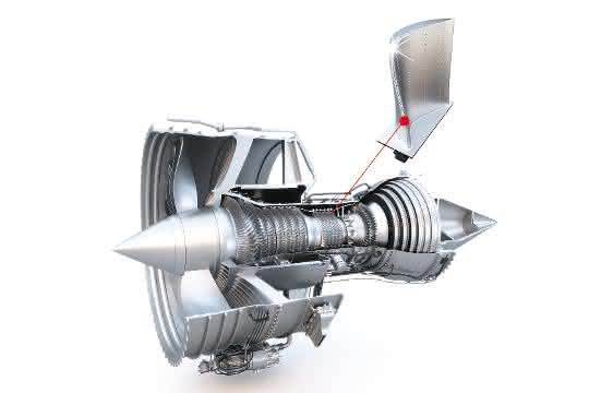 Turbine im Anschnitt