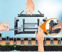 Neue Innenaufteilung für E4Q Energiekette reduziert Montagezeit