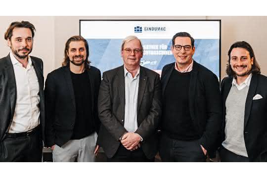 Beirat der Gindumac Gruppe von links: Alexander Eisler, Janek Andre, Hans Ulrich Golz, Dominik Benner und Benedikt Ruf.