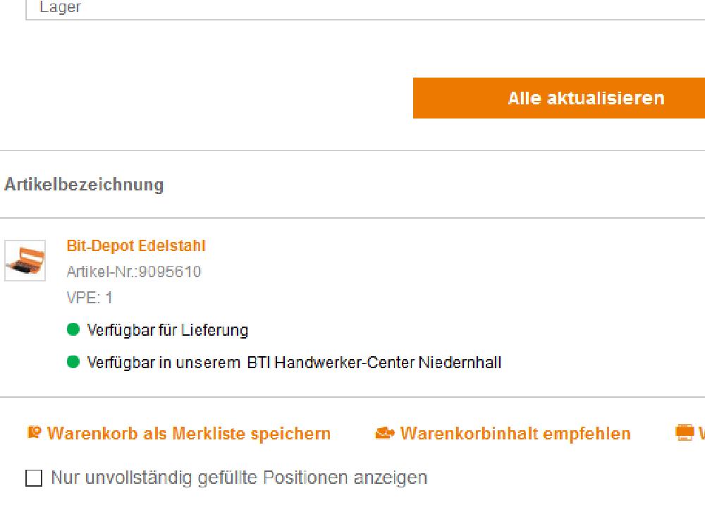 Neue Click & Collect Funktion: BTI entwickelt Online-Shop weiter
