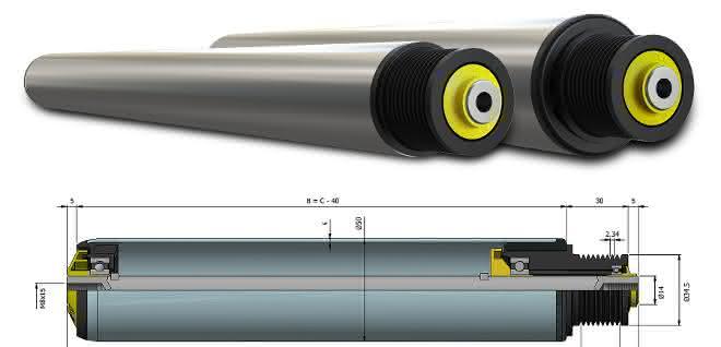 Rulmeca stellt 40 mm Förderrollen für Poly-V-Kopf vor