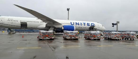 United Airlines baut Luftfrachtkapazitäten weiter aus