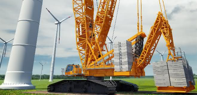 Liebherr präsentiert neuen 700-Tonnen-Raupenkran LR 1700-1.0