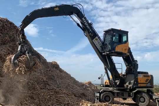 Neuer Hyundai-Umschlagbagger für französisches Recycling-Unternehmen