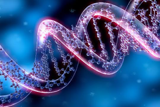 DNA-Helix (Kunstbild)