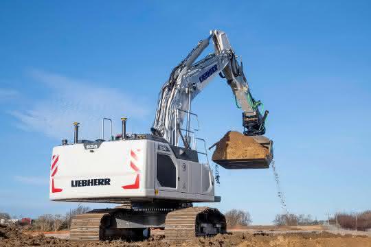 Hydraulikbagger: Erster Liebherr-Hydraulikbagger mit Maschinensteuerung von Leica Geosystems ausgeliefert