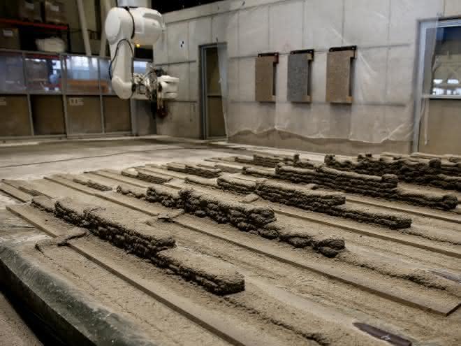 Versuchsfeld mit Fertigungsrobotern