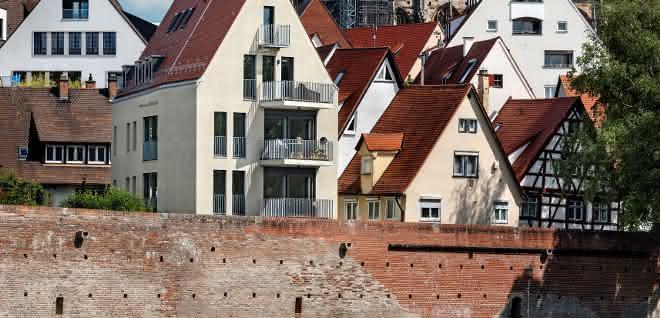Gebäude mit Knick