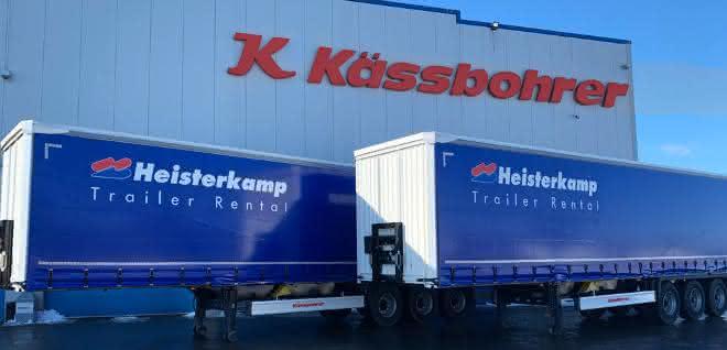 100 Planenauflieger von Kässbohrer für Heisterkamp