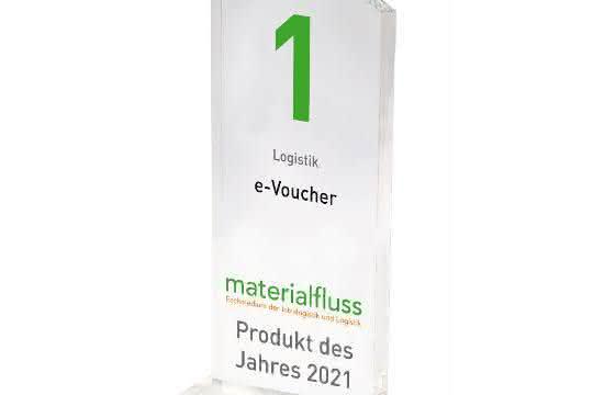 materialfluss PRODUKT DES JAHRES 2021: PAKis e-Voucher auf Platz 1