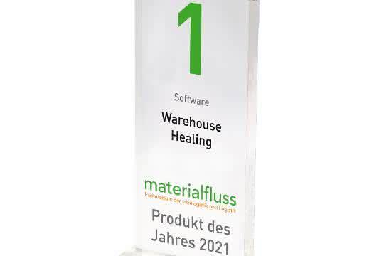 materialfluss PRODUKT DES JAHRES 2021: Warehouse Healing von S&P Computersysteme siegreich