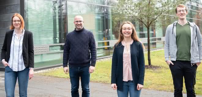 Tatjana Weil, Prof. Jan Münch, Carina Conzelmann und Lukas Wettstein.