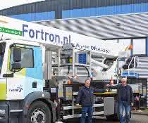 Lkw-Arbeitsbühne: Hybrid geht's 45 Meter in die Höhe