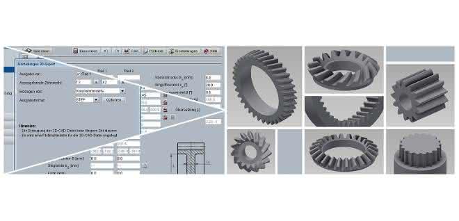 Berechnungs-Software: Zahnräder dreidimensional berechnen