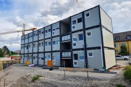 Containeranlage für Münchner Baufirma