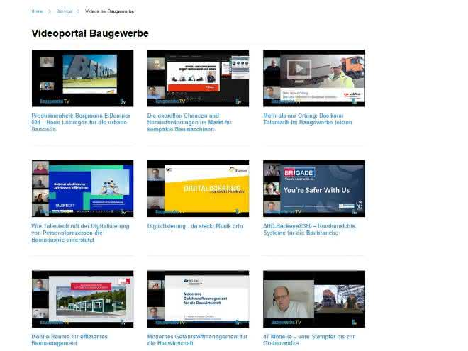 Baugewerbe Online-Messe: Videos aller Webinare und Keynotes verfügbar